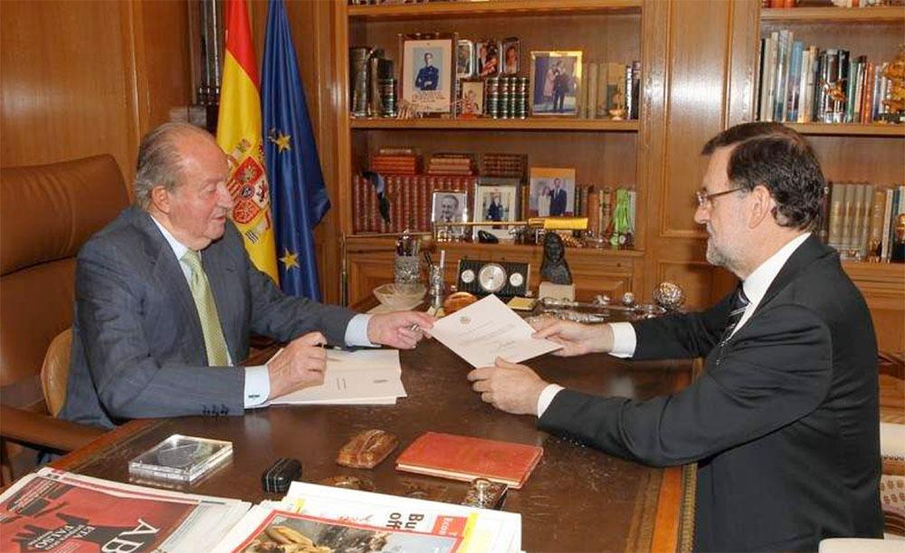D. Juan Carlos y M. Rajoy