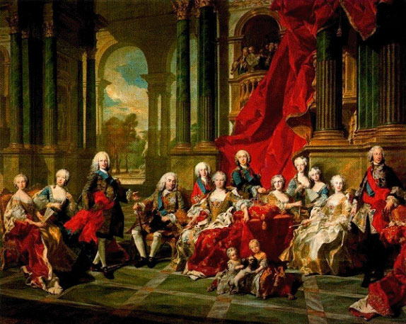 La familia de Felipe V, por Van Loo (1743)