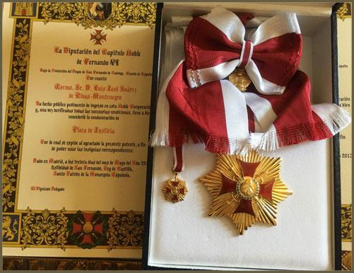 Insignia Capítulo Noble de Fernando VI