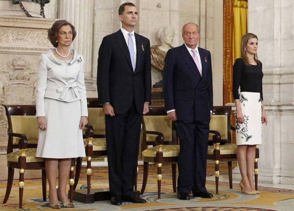 Sus Majestades los Reyes con los Príncipes de Asturias